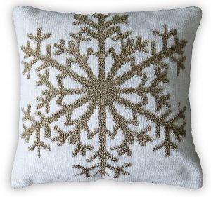 Inis Snow Flake Pillow White Back Ground