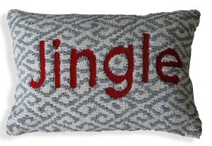 Jingle Pillow On white Back Ground