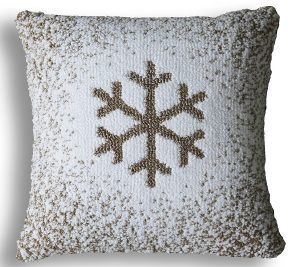 Ombre Snow Flake Pillow